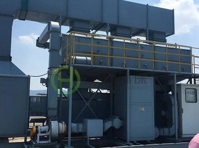 适应于钢结构重工行业的活性炭吸附催化燃烧装